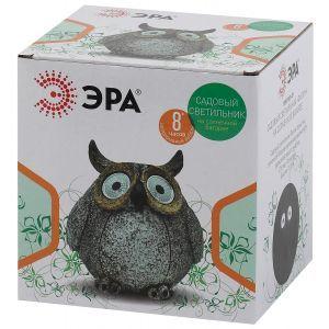 ERAFYS01-07 ЭРА Садовый светильник Филин серый на солнечной батарее, полистоун, 11,5 см (36/432)