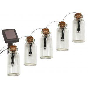 ERAGS08-05 ЭРА Садовая гирлянда 10 подсвечиваемых  светодиодами бутылочек.Общая длина от солнечной п