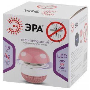 ERAMF-03 ЭРА противомоскитная ультрафиолетовая лампа (розовый) (12/144)