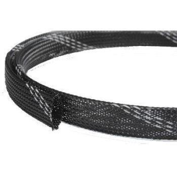 Кабельная оплетка FRH-016 (16,0мм.)  полиэстеровая чёрно-белая