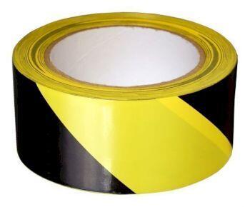 Лента  оградительная ЛО-250 черно-желтая 75мм  250 м