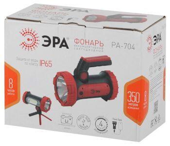 PA-704 Фонарь ЭРА прожекторный [10W SMD+ боковой COB, литиевый акк 6000мАч/ 3,7V, IP65, microUSB, Po