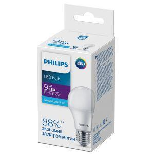 Philips Ecohome LED Bulb 9W E27 6500K А60 (20/1800)