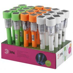 SL-PL30-CLR ЭРА Садовый светильник на солнечной батарее, пластик, цветной, 32 см (24/1320)